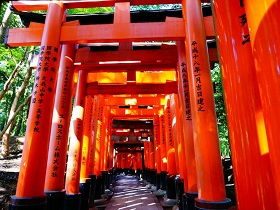 Famous shrines and temples in Kyoto