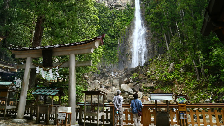 Nachi Waterfall Art Print Poster Temple And